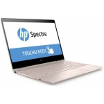 "HP Spectre X360 13T 2-in-1 Laptop (Pale Rose Gold) - Intel Quad-Core i7-8550U 1.80GHz - 16GB RAM - 512GB SSD - Intel UHD Graphics 620 - Win 10 Home - 13.3"" 3840x2160 Touch"